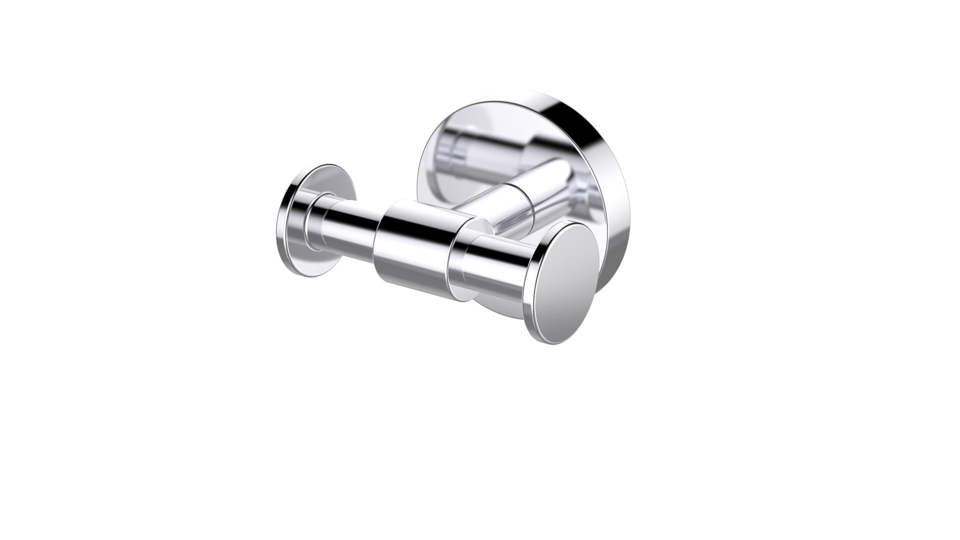 Eviva EVAC32CH Twin Bullet Towel or Robe Hook ROUND Design (Chrome) Bathroom Accessories Combination