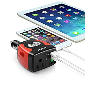 BESTEK 150W Power Inverter with 3.1A Dual USB Charging Ports