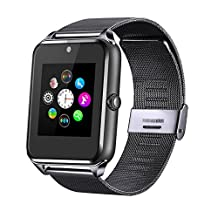 Fantime Bluetooth Smart Watch Phone, Wrist Watch Phone Support SIM Card SD for Android Smart Phones