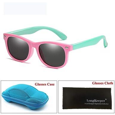 Wang-RX Espejo para niños Gafas de sol Niños Niñas Silicón ...
