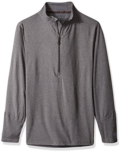 Terramar Heather Way Grey Thermolator Brushed Stretch 4 Climasense Men Zip Half Grey Jacket IqPrAwI