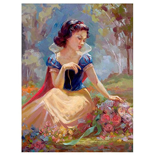 """Gathering Flowers"" Hand Embellished Limited Edition Giclee on Canvas by Lisa Keene from Disney Fine Art; Numbered, Hand Signed, with Certificate!"