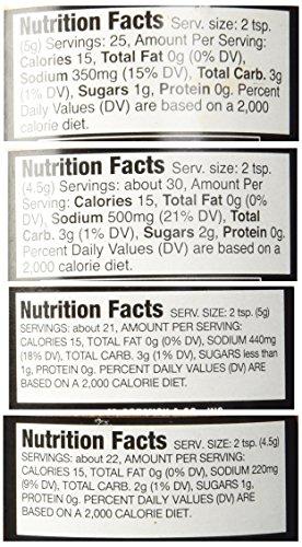 McCormick Grill Mates Meat Rub 4 Flavor Variety Bundle: (1) Grill Mates Steak Rub, (1) Grill Mates Sweet & Smoky With Cinnamon & Chipotle Rub, (1) Grill Mates Pork Rub, and (1) Grill Mates Applewood Rub, 3.46-4.76 Oz. Ea. (4 Jars Total)
