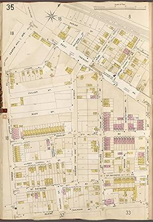 Amazoncom Historic 1905 Map Bronx V A Plate No 35 Map