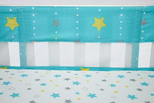 Little Bedding by NoJo Twinkle Secure Me Crib Liner, (1 Iron Convertible Crib)