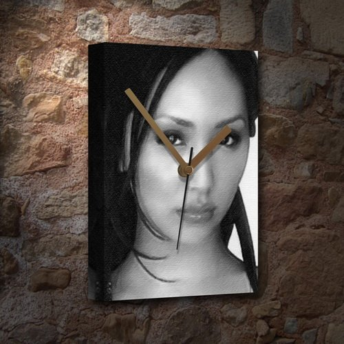 LINDA PARK - Canvas Clock (LARGE A3 - Signed by the Artist) #js001