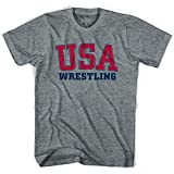 USA Wrestling Ultras T-shirt, Athletic Grey, Adult Medium