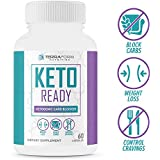 Keto Ready - Max Strength Keto Carb Blocker 1200mg – Burn Fat & Block Carb Absorption – Minimize Cheat Meals & Maintain Ketosis – White Kidney Bean Extract - for Men & Women - Made in USA - 60 Capsule