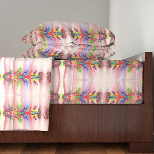 Roostery Chakra 4pc Sheet Set Chakra Dance 1 by Dovetail Designs Queen Sheet Set made with by Roostery