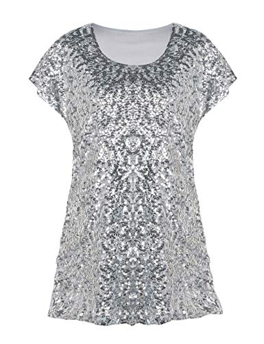 3e84997e837aba Compare price to silver sequin top