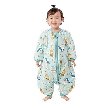HAIMING-sleeping bag Saco De Dormir Pierna Dividida Mono De Bebe Pijamas De Bebe-Las Mangas Largas Acolchadas para Bebés Se Pueden Usar para Hacer ...