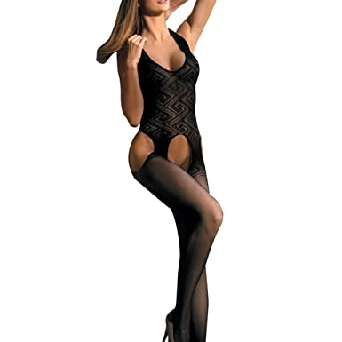 40a2933cdf Image Unavailable. Goldwish Womens Sexy Lingerie Open Crotch Fishnet Mesh  Bodysuit Bodystocking …