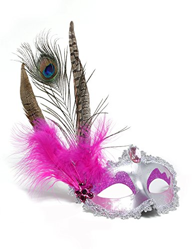 JeVenis Party Mask Masquerade Masks Halloween Mardi Gras Mask Carnival Mask With (Modern Masquerade Ball Costumes)