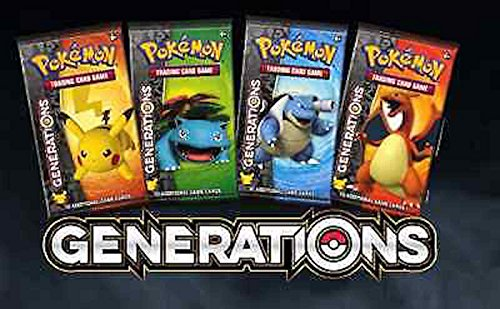 Booster Generations (Pokemon Generations 36 Booster Packs +1 Plasma Blast Booster Pack Bundle)