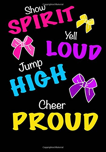 Jump High! Cheer Proud! (Cheerleading Journal For Girls): Blank & Lined Journal Notebook For Kids; Cute Journal For Use As Daily Diary or School ... Achievement Journals or Kids Writing Journal por Kids Journals