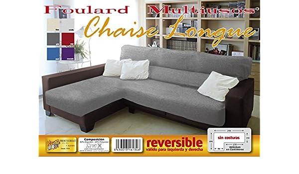 MONSERRAT Cubre Sofa Chaise Longue Reversible, Funda sofa ...