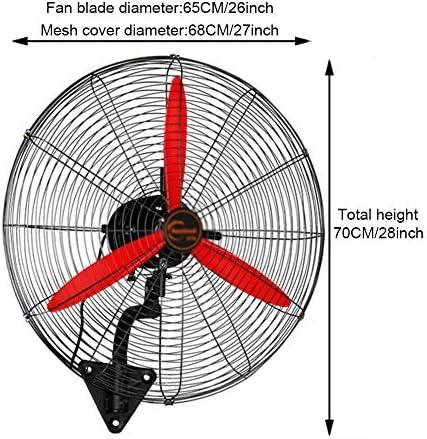 LNX rode ventilator voor wandmontage, industriële, hoge snelheid, verstelbaar, voor broeikas, magazijn, werkplaats 13GHjOyR