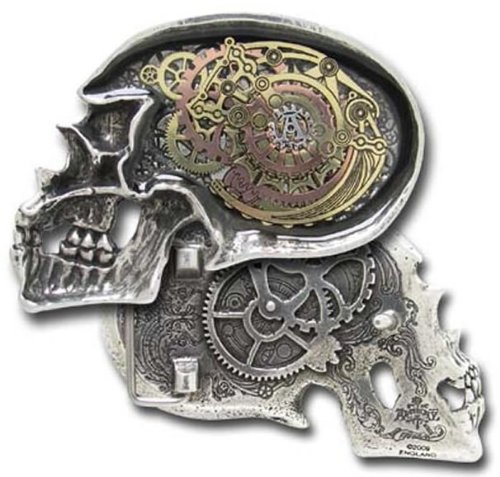 Anima Machinato Futurus Steampunk Gothic Belt Buckle by Alchemy of England (Metal Licensed Belt Buckle)