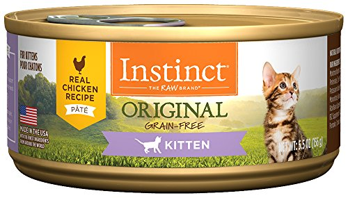 Nature's Variety Instinct Original Kitten Grain Free Real Chicken Recipe Natural Wet Canned Cat Food by, 5.5 oz. Cans (Case of 12)