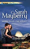 More Than One Night, Sarah Mayberry, 0373606893