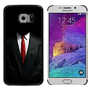 CASEMAX Slim Hard Case Cover Armor Shell FOR Samsung Galaxy S6 EDGE- ANONYMOUS SUIT