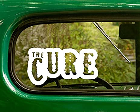 2 the cure decal rock band stickers white die cut for window car jeep 4x4 truck