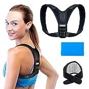 Aldtex Corrector de postura: soporte de espalda Ajustable para Hombres y Mujeres – Discreto