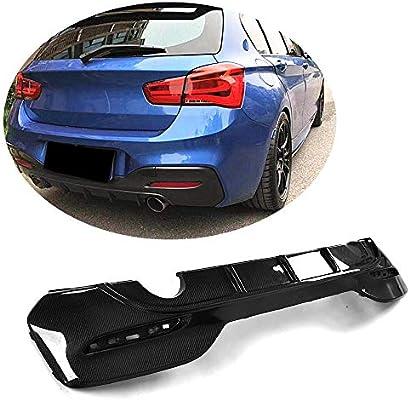 MCARCAR KIT Rear Diffuser fits BMW 1 Series F20 M140i Hatchback LCI 2015-2018 Customized Real Carbon Fiber CF Lower Bumper Lip Spoiler Body Kit