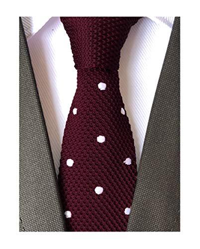 Secdtie Men Burgundy Red Fashion Tie Stylish Wedding Necktie For Groom Groomsman