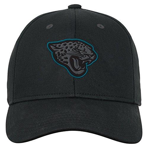 (Outerstuff NFL NFL Jacksonville Jaguars Youth Boys B&W Structured Adjustable Hat Black, Youth One Size )