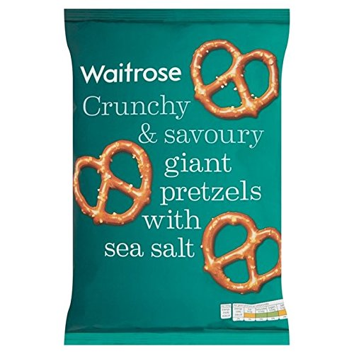 Giant Pretzels with Sea Salt Waitrose 200g (Pack of 4)