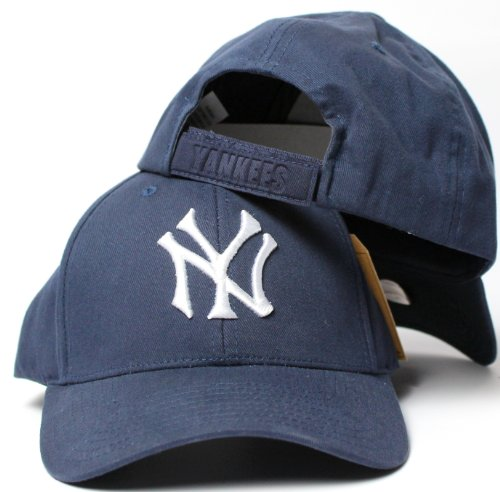 Cloth Cap Youth (American Needle New York Yankees Home Plate Embossed Velcro Backstrap Brushed Twill Cap)
