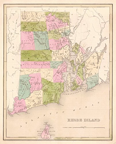 Historic Map | 1841 Rhode Island | Bradford, Thomas B. and S.G. ()