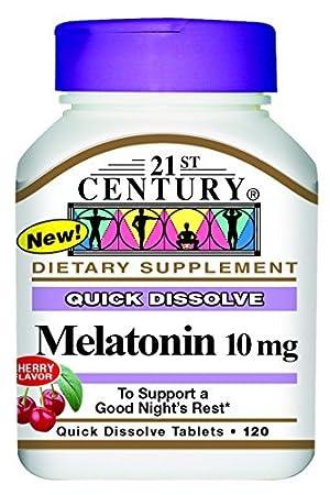 Amazon.com: 21st Century Melatonin Quick Dissolve Tablets, Cherry ...
