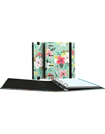 Grafoplás 88111934-Carpeta de anillas troqueladas A5, Diseño Noa, dibujo de flores,