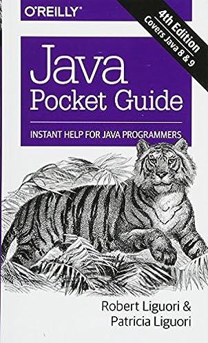 java pocket guide instant help for java programmers robert liguori rh amazon com Pocket Designs Android Tablet Apps