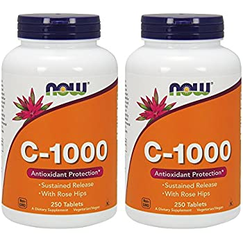 NOW Vitamin C-1000 Sustained Release ygfbKv, 2 Pack
