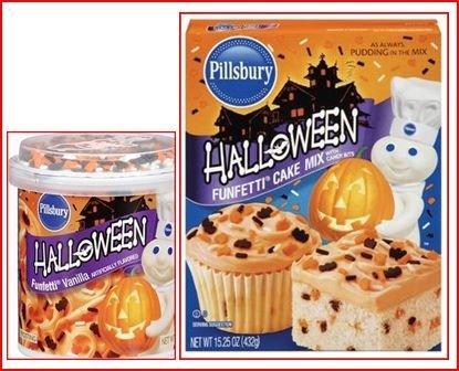 (Pillsbury Halloween Funfetti Cake Mix (1) and Vanilla Funfetti Frosting (1))