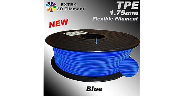 EXTEK Premium 1,75 mm TPE azul, 1 kg/2,2 lb: Amazon.es: Amazon.es