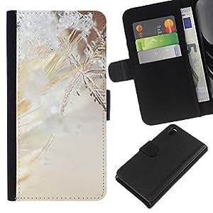 All Phone Most Case / Oferta Especial Cáscara Funda de cuero Monedero Cubierta de proteccion Caso / Wallet Case for Sony Xperia Z3 D6603 // Snowflake Spring Winter Sun Snow Ice