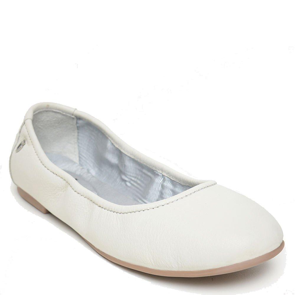 Minnetonka Casual Shoes Womens Anna Ballerina Leather Chocolate 258 B07C3GJJ46 38 M EU / 7.5 B(M) US|White Leather