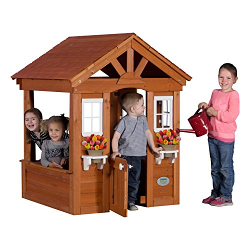 Backyard Discovery Columbus All Cedar Wood Playhouse ()