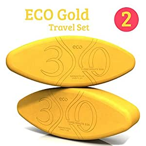 Yoga Block Action Set - 4 Yoga Eggs - ECO Gold - Made in USA - by Three Minute Egg