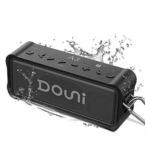 Outdoor Bluetooth Speaker, ZealSound 20W Loud Waterproof Bluetooth Speakers for Outdoor Sports, Waterproof, Shockproof, Dynamic Stereo Super Bass, 36 Hours Play, 4400mAh Power Bank, W/Hook, -