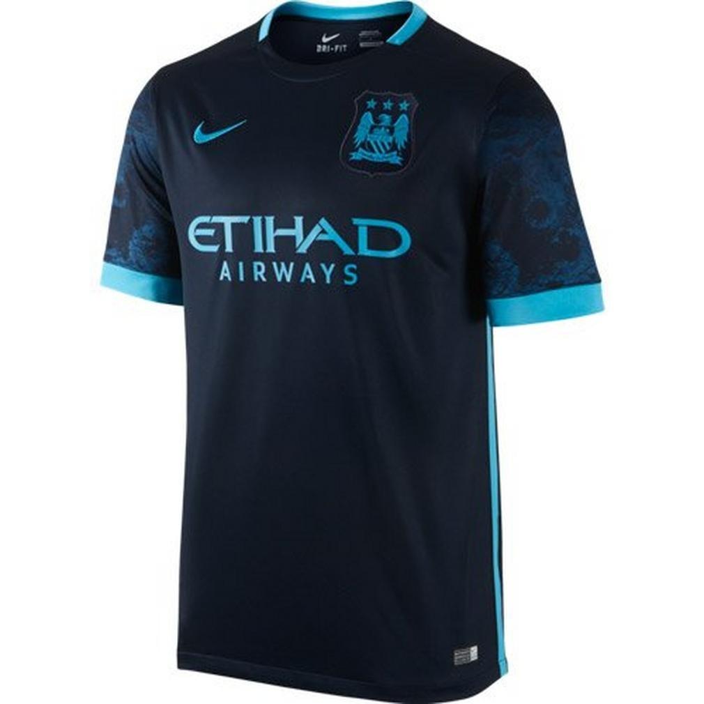 6247c5b121c Amazon.com   Nike Mens Manchester City Away Stadium Jersey  Dark Obsidian     Sports   Outdoors