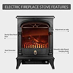 VIVOHOME Portable Free Standing Electric Fireplace Insert Stove Heater with Realistic Log Flame Effect by VIVOHOME