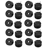 Aexit 20Pcs Miniature 3V Active Buzzer Magnetic Long Continous Beep Tone 12mm x 6.5mm