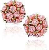 YouBella earrings for women stylish Jewellery Flower Shape Resin Fancy Party Wear Earrings for Women and Girls