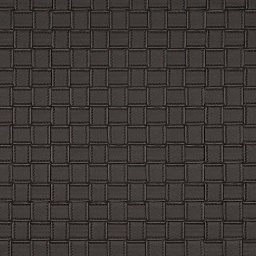 G658 Brown Basket Woven Look Upholstery Faux Leather by The Yard