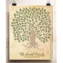Wedding Guest Book Alternative Poster Family Tree with Roots Rustic Event Poster Family Reunion Print Birthday Party Grandparent's Day or Anniversary Gift for a Group of up to 150 People 24x30